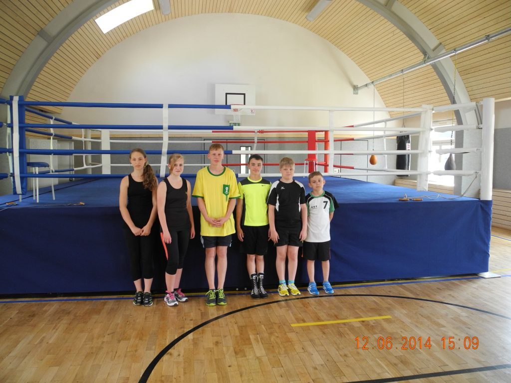 Erstes Training mit Boxring (1)